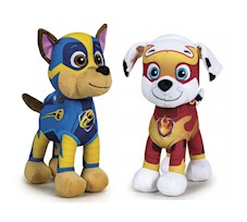 Psi Patrol Mighty Pups Maskotka CHASE i MARSHALL 28 cm