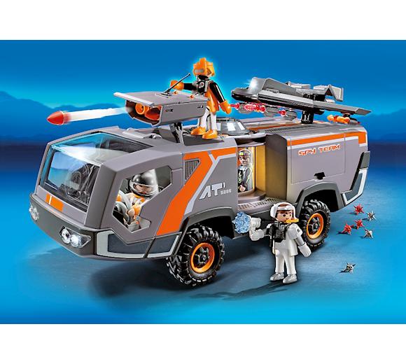 playmobil top agents spy team commander truck 5286