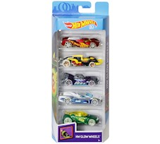 Hot Wheels Samochodziki 5-Pak Glow Wheels FKT66