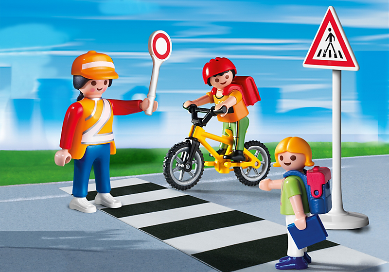 Playmobil Szkoła Przejście dla Pieszych z Opiekunką i Dziećmi 43