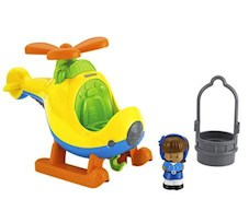 Fisher-Price Little People Średni Pojazd Helikopter BDY82