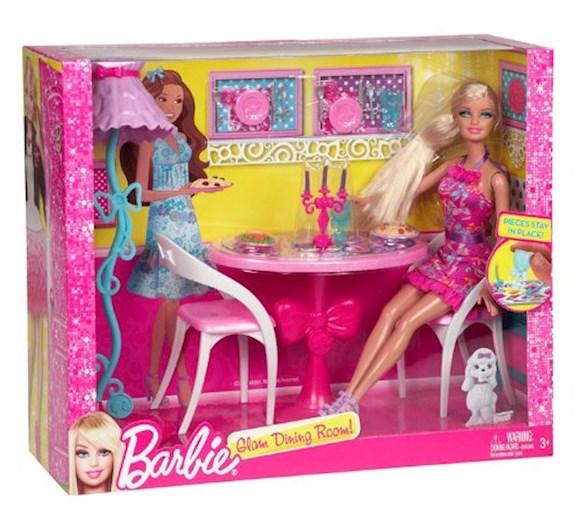 Barbie Mebelki Jadalnia Z Lalka X7942
