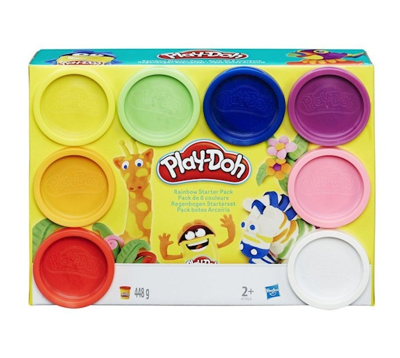 Play Doh Ciastolina Tęczowy Zestaw Startowy 8 Tub A7923