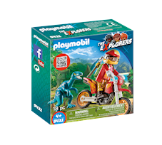 Playmobil The Explorers Rower motocrossowy z raptorem 9431