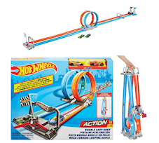 Hot Wheels Podwójny Tor z Pętlami 2 metry + 2 autka GFH85