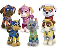 Psi Patrol Mighty Pups Maskotka CHASE MARSHALL ROCKY RUMBLE SKY ZUMA 28 cm