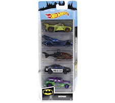 Hot Wheels Samochodziki 5-Pak Batman FYL09