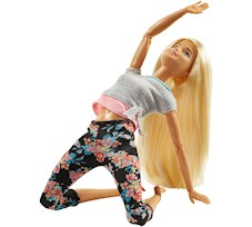 Barbie Made to Move Kwieciste Blondynka FTG81