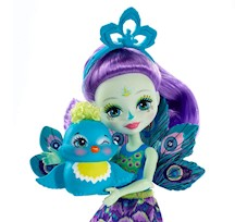 Enchantimals Lalka Patter Peacock + Paw FXM74